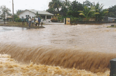 Flooding after heavy rain (Credit: Le Journal de l'ile de la Reunion)