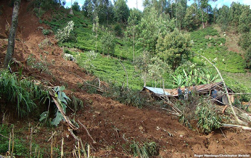 Prévision des fortes pluies et des glissements de terrain en Afrique de l'Est